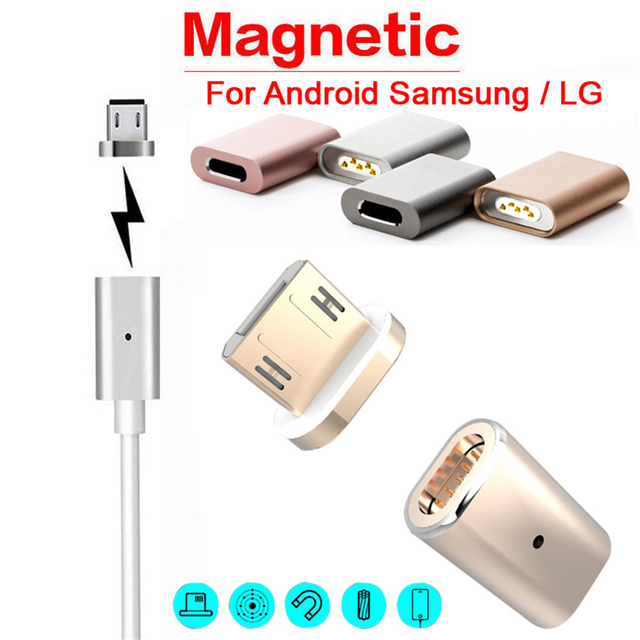9c7645ea626200 Sindvor Magnetic Phone Charger Adapter For iPhone Micro USB Magnetic  Connector Charging Data Cable For Android Samsung USB Cable