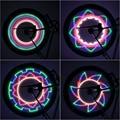 2017 Brand New Colorful Bicycle Lights Bike Cycling Wheel Spoke Light 32 LED 32-pattern Waterproof free shipping
