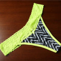 New Underwear Women Panties Sexy Women Thongs and G strings Bow Female Seamless Lace  Hipster  Fluorescence Lingerie PM042