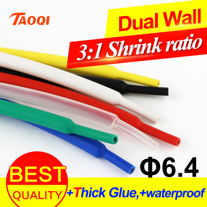 Heat Shrink Tubing 2:1 Red 6.4mm 1M Heatshrink Tube Sleeve Wrap Cable Flex