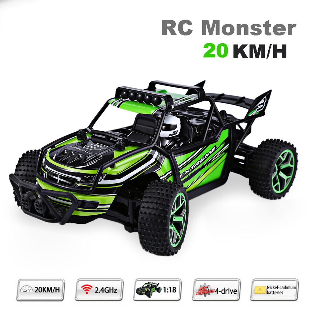 Highspeed Remote Control Car 1:18 20KM/H Speed RC Drift RC Car Radio Controlled Cars Machine 2.4G 4wd off-road buggy Kids Gift dongxin mercedes benz sl65 speed remote control steering wheel 1 18 car drift charge black