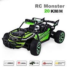 Coche de Control Remoto 1:18 de alta velocidad 20 KM/H de Velocidad RC Drift RC coche de radio control cars máquina 2.4g 4wd off-road buggy niños regalo
