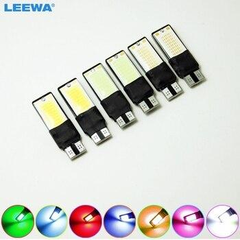 LEEWA 100pcs DC12V T10 194 W5W No Error Canbus 5W LED Wedge 2-Side COB Car Interior LED Bulb Light Side Lamp  #CA4773