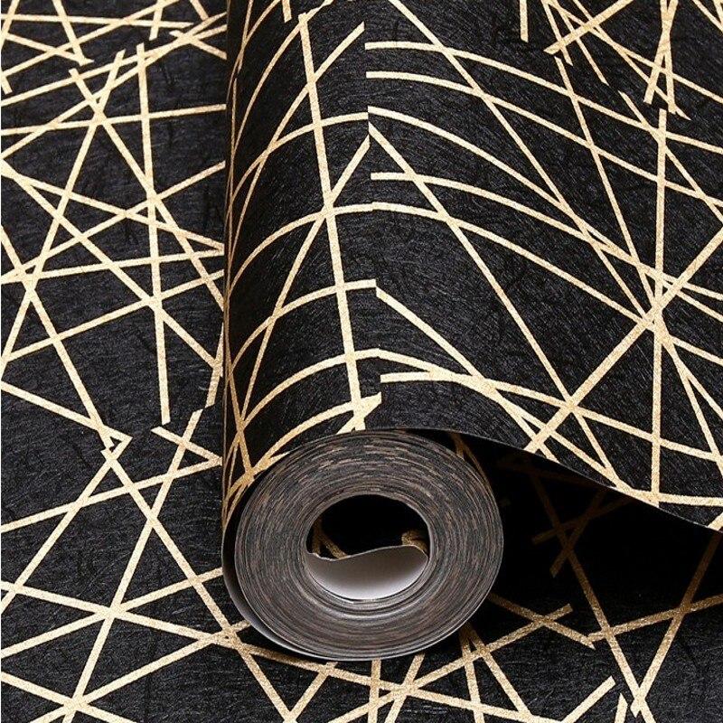 Livraison gratuite irrégulier graphique papier peint abstrait ligne noire salon chambre TV toile de fond Bar KTV Bar papier peint