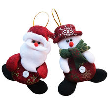 2017 New Year Wholesale 24pcs/lot Red Santa Pendant Christmas Tree Hanging Ornaments Crafts for Home Decor Supplies SD206
