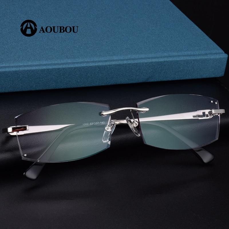 fa878d3cb1 Diamond cut for frameless gradient glasses for reading leesbril heren eye  glasses frames for women oculos azul -in Reading Glasses from Women s  Clothing ...