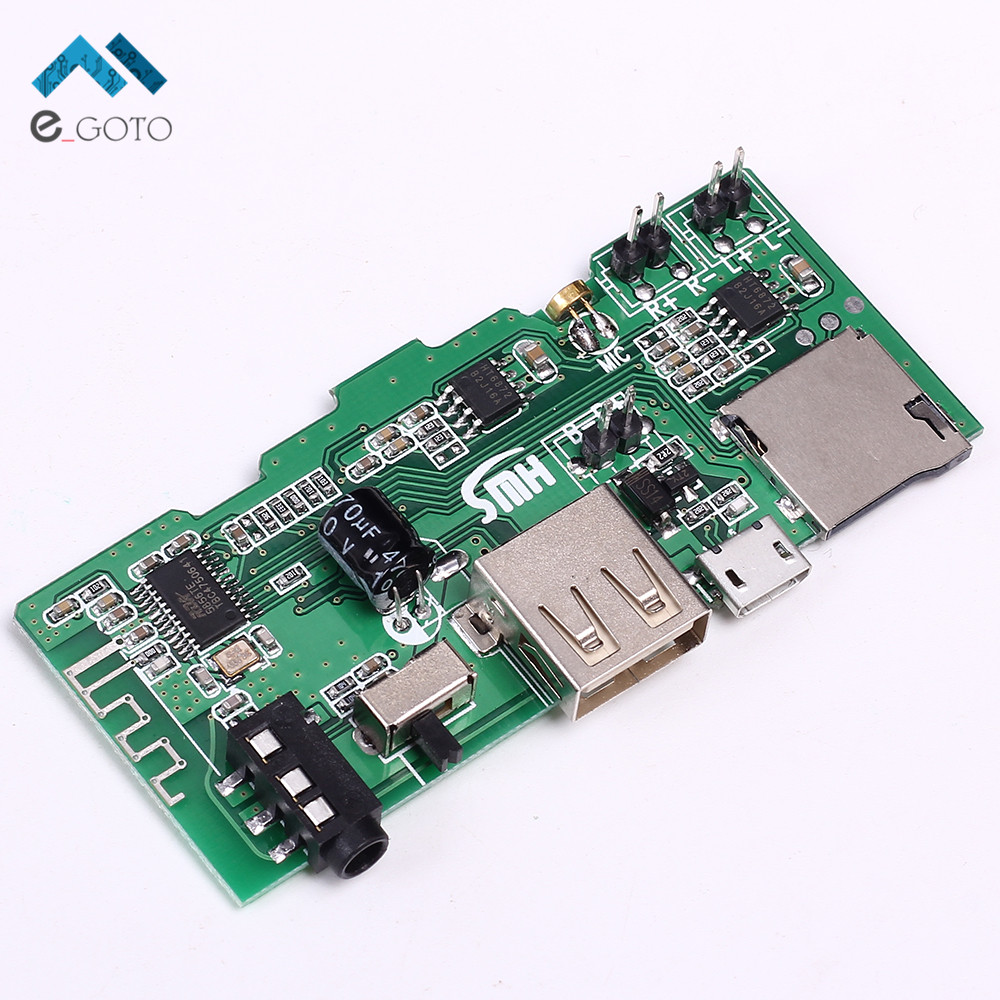 2x3W MP3 Decoder Board Wireless Bluetooth Audio Receiver Module U-Disk AUX FM TF Card MP3 Player