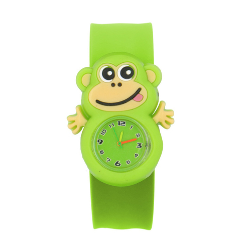 Sweet Patted Table Interesting Birthday Student Toys Children Watch Gift Cartoon Pattern Silicone Tape Wrist 3D Animal Watches Multan