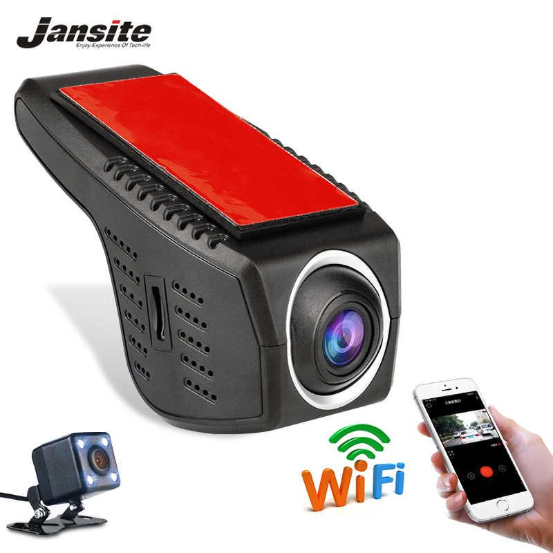 Автомобильный видеорегистратор Мини Wifi, автомобильная камера Full HD 1080 P, видеорегистратор, Автомобильный видеорегистратор, видеокамера с двумя объективами, dvr, ночная версия