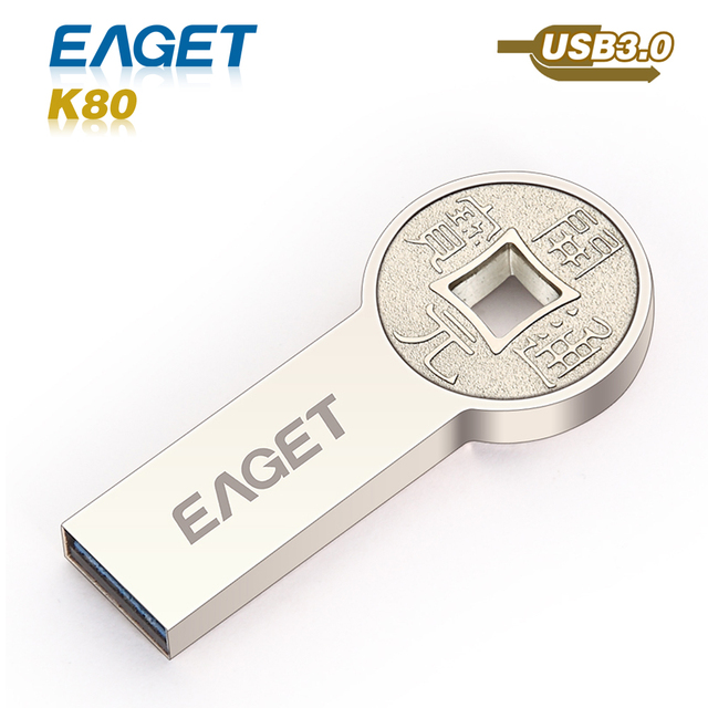 Eaget K80 usb flash drive 3.0 usb 3.0 pen drive pass h2test 16GB 32GB 64GB metal waterproof shockproof External Storage pendrive