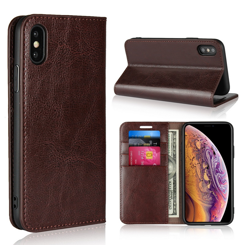 <font><b>Genuine</b></font> <font><b>Leather</b></font> For <font><b>iPhone</b></font> 11 Pro 7 8 X XS Max XR Wallet Flip Cover Card Holder Phone <font><b>Cases</b></font> For <font><b>iPhone</b></font> 6 Plus Luxury Cow Skin image