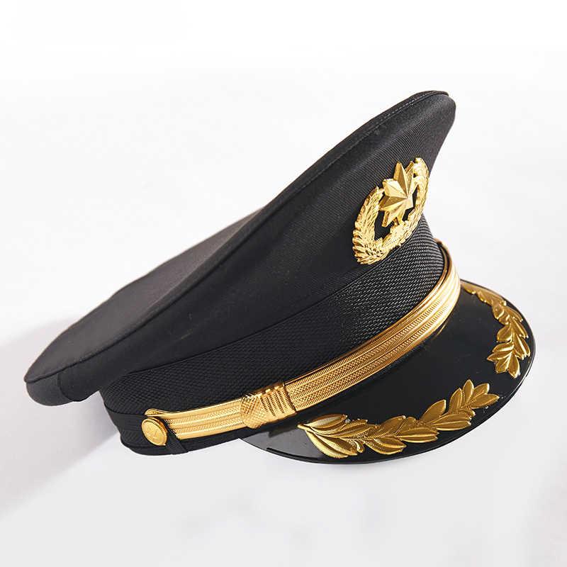 كبيرة القبعات أمن الممتلكات كبيرة كاب الأسود بواب آداب البواب الأصفر القبعات واسعة حافة للنساء أنيقة الأسود قبعة 2019