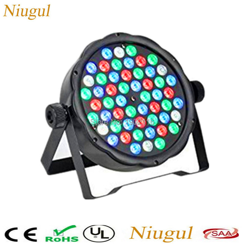 где купить 54X3W led par DJ Par LED RGBW Wash Disco Light DMX512 Controller Led Par Light Strobe home Party Strobe Dimming Effect Projector по лучшей цене