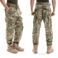 Kamuflaż spodnie wojskowe taktyczne Pantalones armii walki spodnie sił specjalnych SWAT pracy spodnie męskie na co dzień Cargo spodnie dresowe tanie tanio Mężczyźni Pełnej długości Cargo pants REGULAR COTTON Lekki Mieszkanie Suknem Przycisk fly Tactical Pants Kieszenie