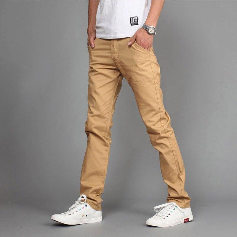 2019 Frühling Mode Casual Hosen Männer Solide Dünne Anzüge Hosen, Mid Taille Baumwolle Gerade Khaki Hosen Mens Jogger Größe 28-36