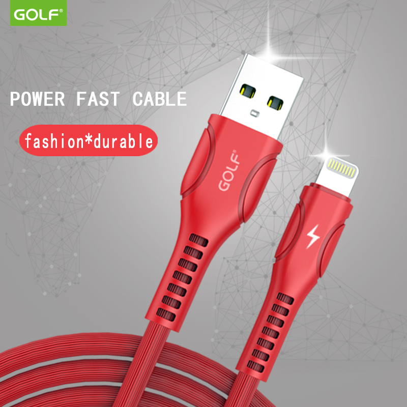 GOLF FOR iPhone6 data line Apple 6S X mobile phone 8plus5s six fast charger round flat charging line