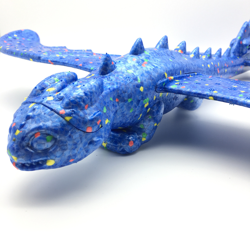 Avion EPP à inertie, Train de dinosaures, modèle d'avion Dragon, jouets éducatifs à l'extérieur, lancement à la main de 48cm 5