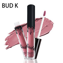 BUD K Marca liquid lipstick brillo Caliente Sexy Colores impermeable Largo duradera mate Lip gloss pen maquillaje rojo con mate labio baton(China)