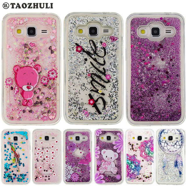 bling glitter moving quicksand soft tpu case for samsung galaxy