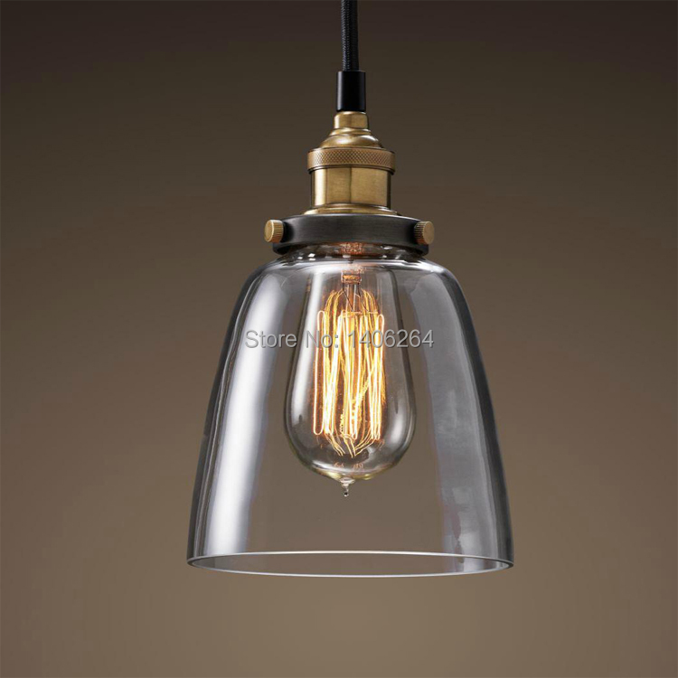 Industrial Edison Mini Glass 1-Light Pendant Hanging Lamp Fixture Lights for Cafe Bar Hall Shop Club Store Bedroom Dining Room 32cm vintage iron pendant light metal edison 3 light lighting fixture droplight cafe bar coffee shop hall store club