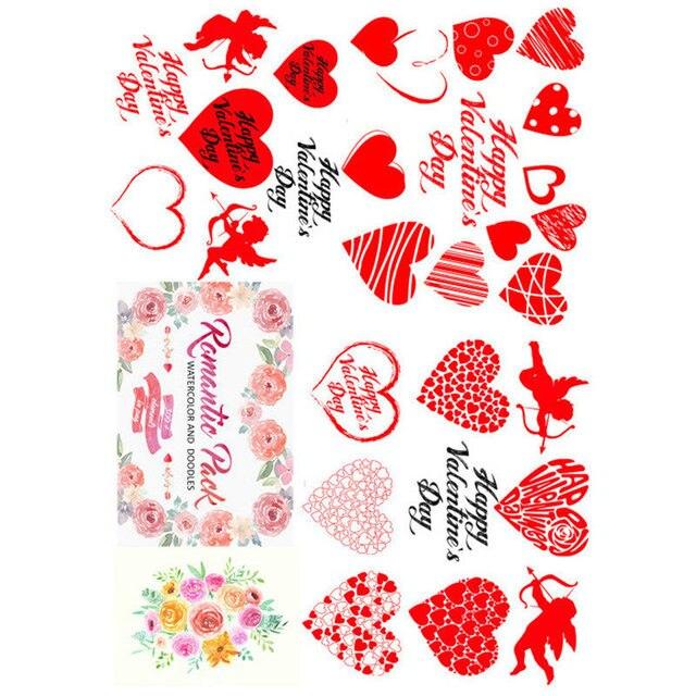 2 PCS Kawaii Hochzeit Paare Rot Liebe Herz DIY Deco Scrapbooking Kugel Journal Schreibwaren Aufkleber Planer Papier Tagebuch Aufkleber