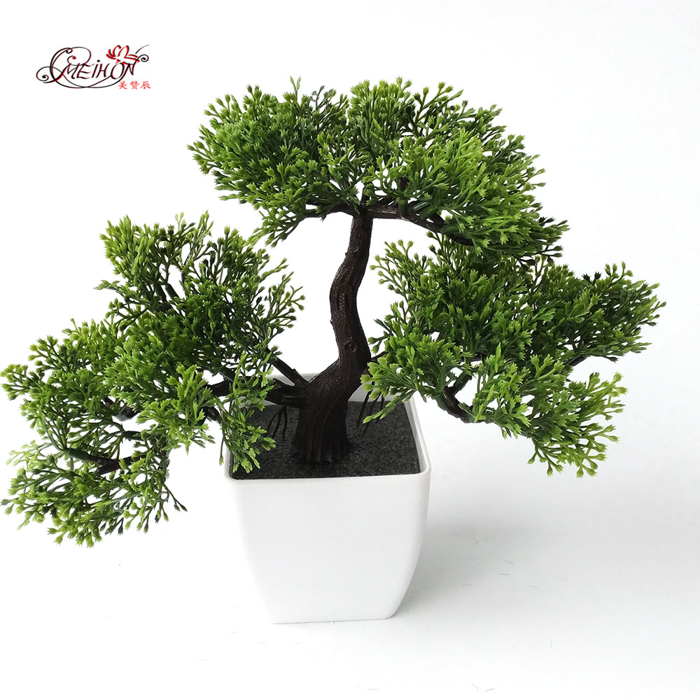 office bonsai. Welcoming Pines Artificial Flower Tree Plant Bonsai Green Plants For Decorative Interior Office-in \u0026 Dried Flowers From Home Garden Office