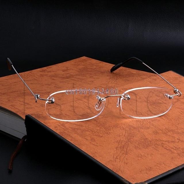 d283244cbe734 1PC Fashion Men Women Metal Frame Rimless Reading Glasses Presbyopia 1.0  ~4.0