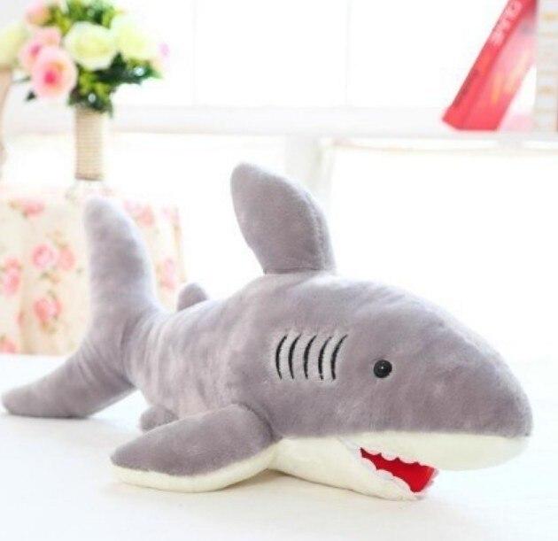 Livraison gratuite requin peluche jouet la simulation peluche jouet de requin doux suffed jouet 110 cm taille cadeau de noël