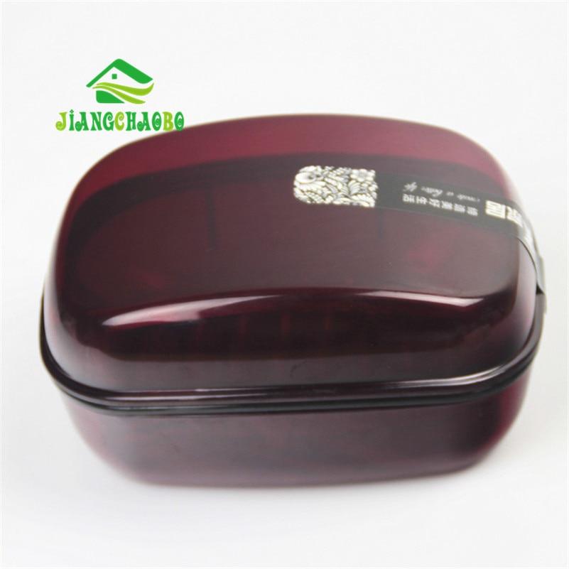 JiangChaoBo Peti Sabun Telus Bilik Mandi Tandas Basuh Sabun Kotak - Organisasi dan penyimpanan di dalam rumah - Foto 2