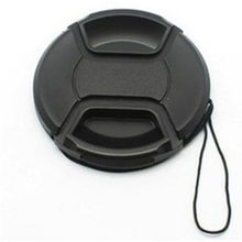 For Ni kon For Ca non 58mm SLR Camera Lens Cover Black Plastic Universal Camera Lens Cap With Anti-lost Rope(China)