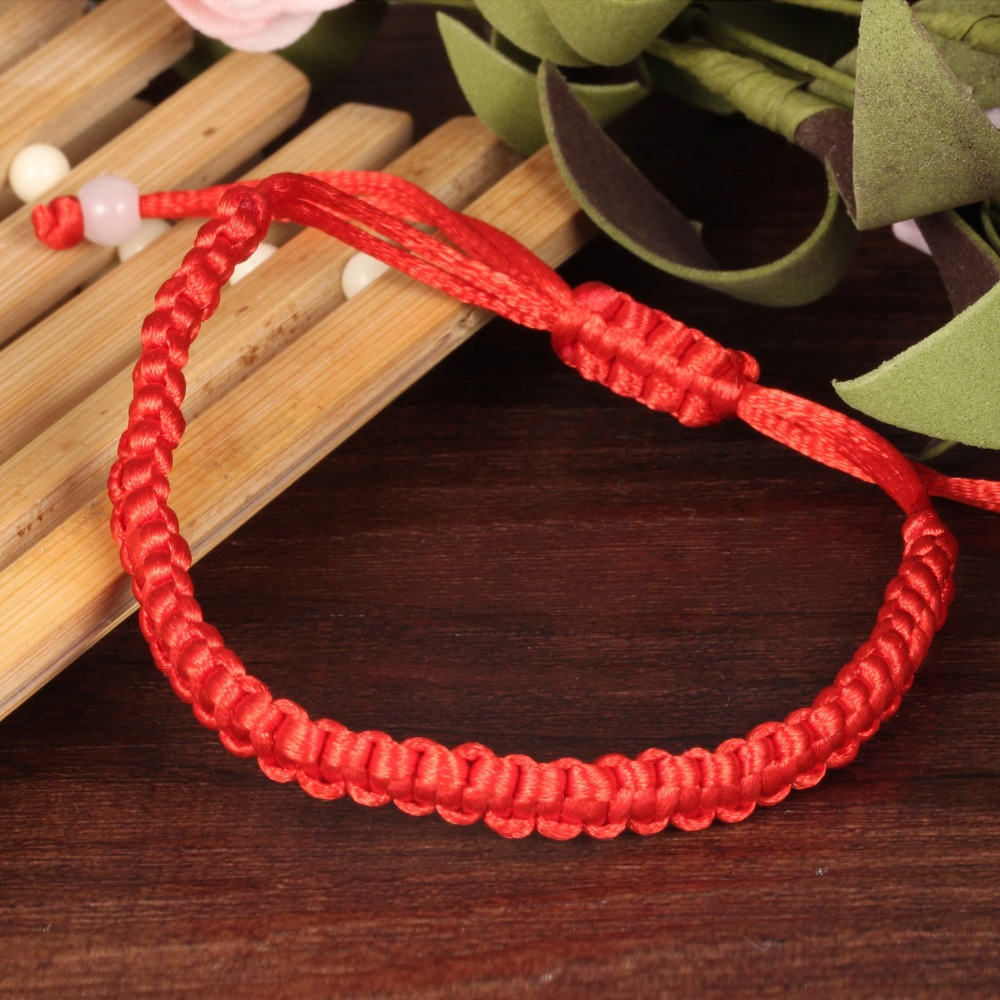 Classic Simple Red Rope Handmade Knitted Knot Bracelets Bangles For Women man Children unisex Jewelry Gift DropShipping in Charm Bracelets from Jewelry Accessories