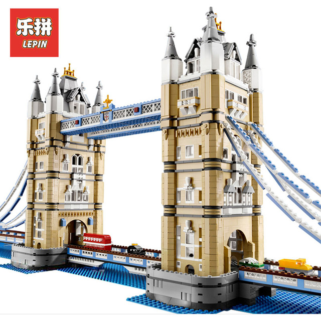 4295pcs New LEPIN 17004 London bridge Model Building Kits Brick Toys Compatible with 10214 Christimas Gift new lepin 22001 pirate ship imperial warships model building kits block briks toys gift 1717pcs