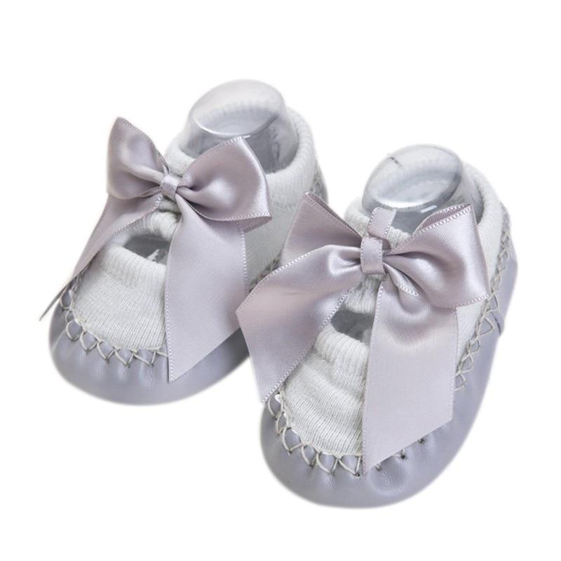 Bebé niños niñas primavera otoño algodón zapatos calcetines lindos calientes antideslizantes zapatos de suelo infantil calcetines calentador interior caminar aprendizaje Calcetines - 6