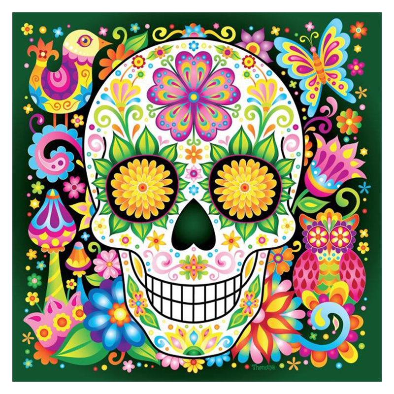 Full Square Diamond 5d Diy Diamond Embroidery Sugar Skulls Diamond
