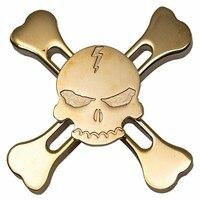 New Original Metal Skull Torqbar Fidget Hand Spinner Tri-spinner For Adult To Reduce Pressure Fidget Spinner