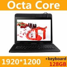 Tablet PC 10 pulgadas 3g 4g tablet Octa Core 1920*1200 ips 4g + 128 gb rom + teclado de android 6.0 gps bluetooth Dual sim tarjeta de Llamada Telefónica