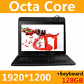 Tablet PC 10 polegada 3g 4g núcleo do comprimido Octa 1920*1200 ips 4g + 128 gb rom + teclado android 6.0 gps bluetooth Dual sim card Phone Call