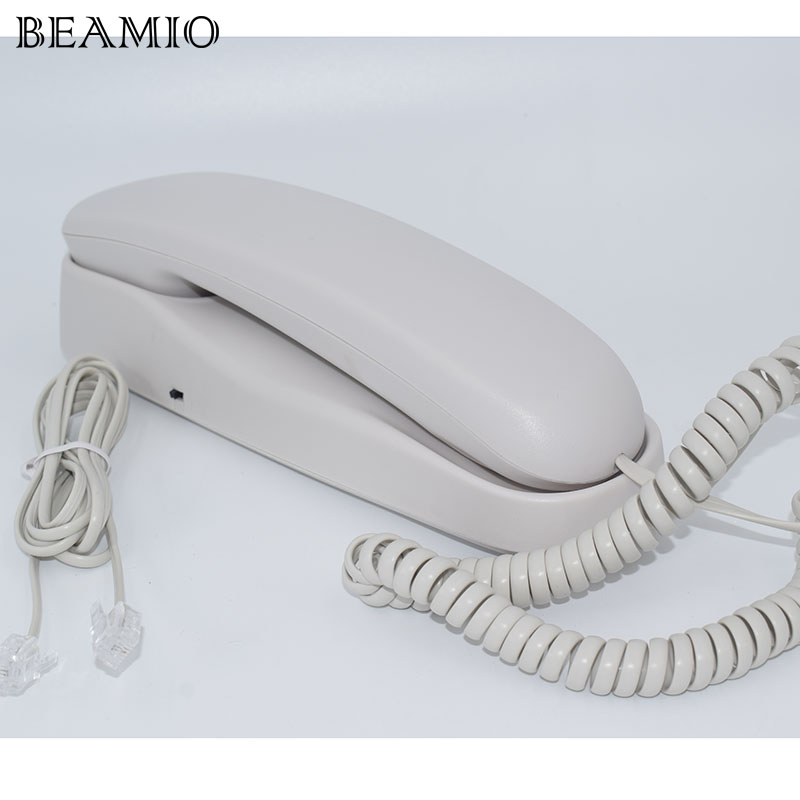 Fashion Landline Wall Telephone Hook Small Hotel Portable TelephoneS For Home Bussiness White