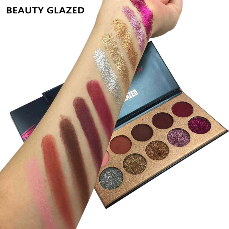Hospitable Beauty Glazed Pro Makeup Glitter Eyeshadow Cosmetic Makeup Shimmer Pigment Pressed Powder Beauty Eye Shadow Kit 10 Colors Back To Search Resultsbeauty & Health