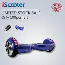 Iscooter ХОВЕРБОРДА UL2272 Bluetooth Электрический скейтборд рулевого колеса смарт-2 колеса Самостоятельная Баланс стоял скутер Hover доска