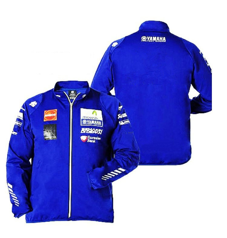 Motorcycle Jacket MotoGP For Yamaha M1 Racing Sweatshirt Printing Sport Windproof Windbreaker Moto Zip-up Jacket sequin embroidered zip up jacket page 2