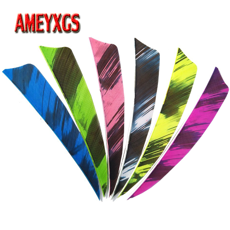 50pcs Archery 4inch Turkey Feathers Natural Arrow Feather Right Wing Fletches For Compound Recurve Bow Shooting Accessories in Bow Arrow from Sports Entertainment