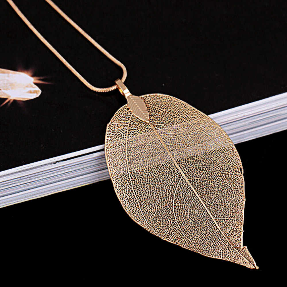 ใหม่สร้อยคอแฟชั่นเครื่องประดับพิเศษใบ Leaf เสื้อกันหนาวบุคลิกภาพอารมณ์ยาวเครื่องประดับหญิง