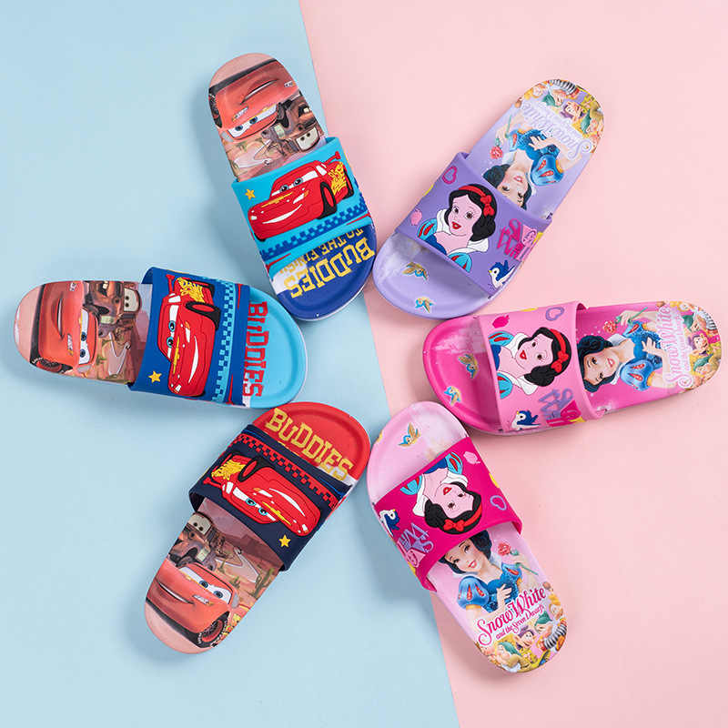 2019 Fashion Cute Kids Slipper Summer Children Baby Boys Girls Slippers Cartoon Princess Car Style PVC Child Shoes Slipper