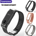 Fashion Mi Band 2 Bracelet Metal Wrist Strap For Xiaomi Mi Band 2 Smart Wristband Replacement Accessories for Miband 2 belt