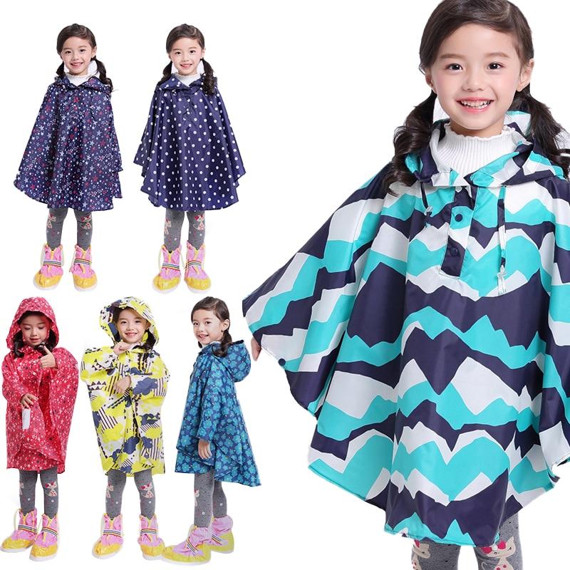Trench Coat Style Raincoat Children Cloak Type Rain Poncho for Kids Waterproof Rain Coat Yellow for Boy/Girl Breathable Rainwear