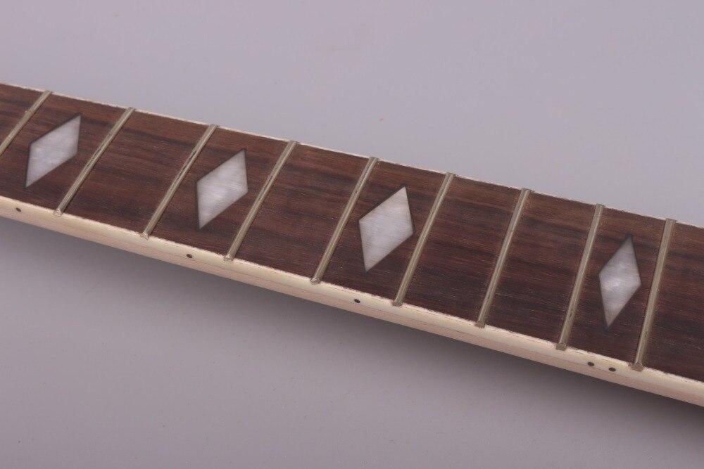 Yinfente guitare électrique cou remplacement 22 fret tête de palette érable fretboard diamo incrustation Strat Jackson guitare électrique cou # p8 - 5