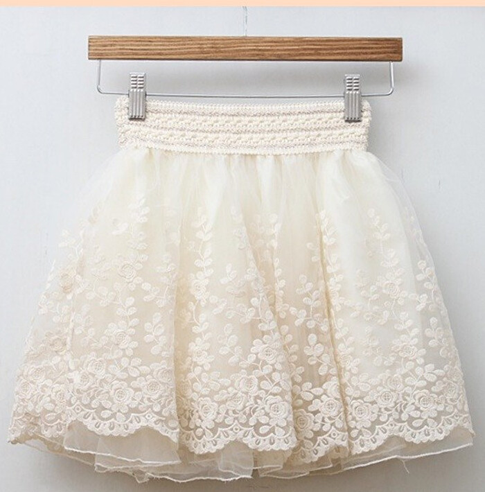 50pcs/lot fedex fast free shipping european and american style woman short lace skirt a-line mini black beige above knee skirt