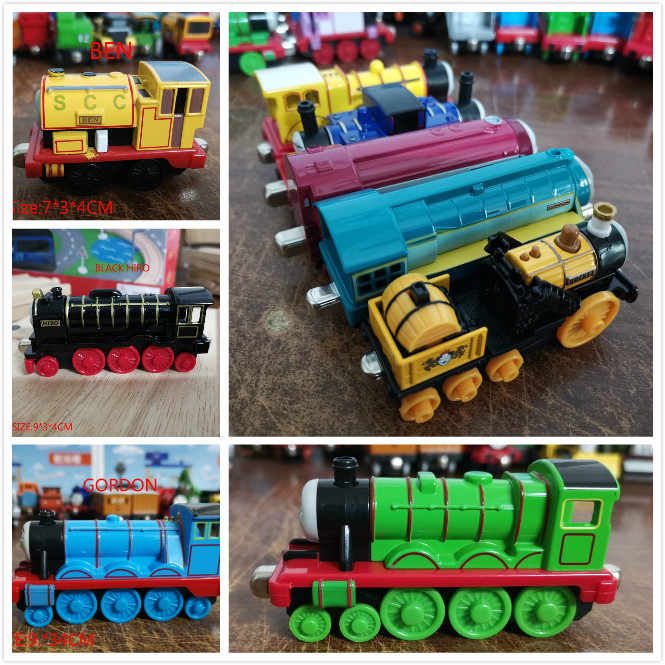 Locomotive Diecast Metal Train Toys Educational Model DIY Mini Toy Magnetic Models Stephen Caitlin Hank For Kids Children Gifts