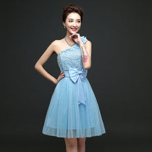 Fashion Summer 2018 Women Elegant Off the Shoulder Mini Blue skater Dresses  Backless Casual Sexy Party 18f55118412a